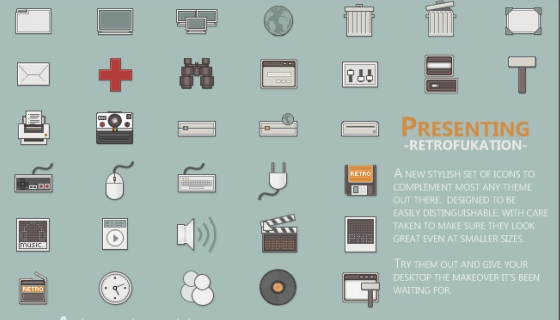 Retrofukation Icons