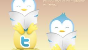 Twitter Reading Bird