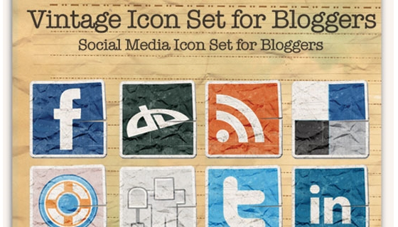 Vintage Icon Set for Bloggers