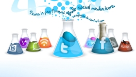 Bulb Social Media Icons
