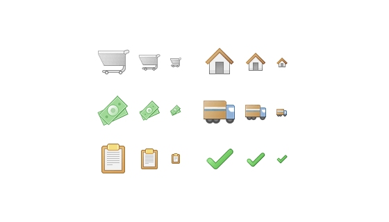 Checkout Process Icons