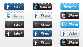 Facebook, Twitter, and RSS Feed Icons