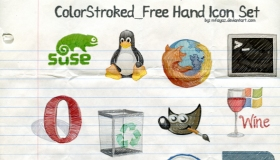 Freehand Color Stroked Icons