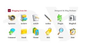 Glossy Blogging Icons