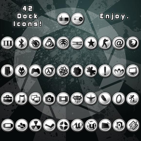 42 White Icons by RockinRollmops