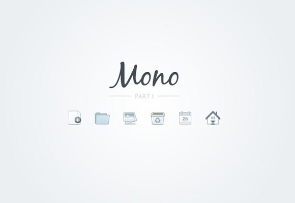 Mono Icons - Part 1