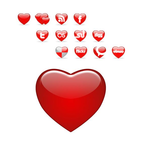 Heart Icon Psd