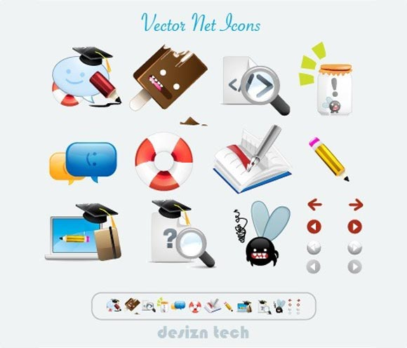 Free Vector Net Icon Set