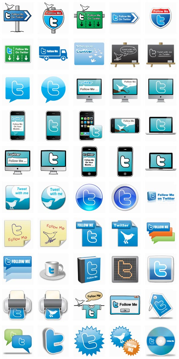 50 Free Twitter Icons