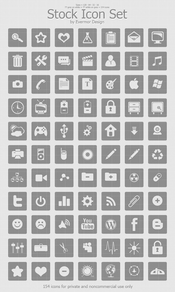 Stock Icon Set by Jason Mortimer