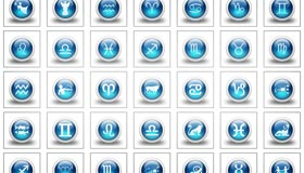 3d Glossy Blue Orbs Icons Culture