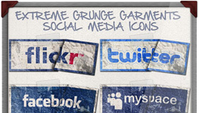 Extreme Grunge Icons by Colaja