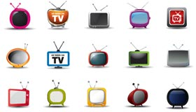 A Set of 15 TV Icons