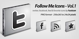 Follow Me Icons Vol 1 by Fasticon