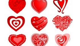 50 Love Heart Vectors