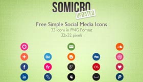 Somicro: 33 Free Social Media Icons