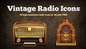 Vintage Radio Icons