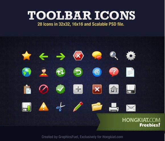 28 Toolbar Icons