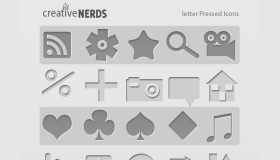 Letter Pressed Icons