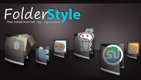 Folder Style Social Icons