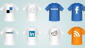 T-Shirt Social Icons