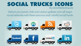 Social Trucks Icon Set