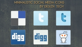 Minimalistic Social Media Icons