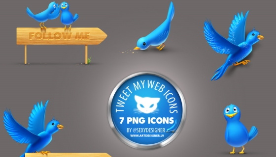 Tweet My Web Icons