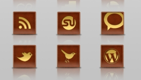 Leather Social Icons