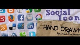 Hand Drawn Social Icons