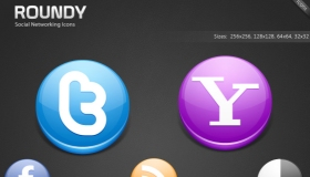 Roundy Social Networking Icons