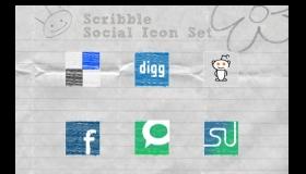 Scribble Social Media Icons