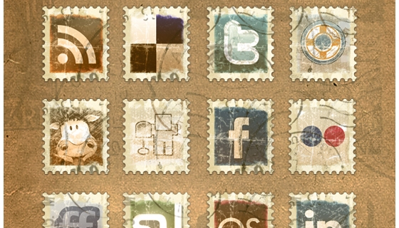 Vintage Stamps Icons