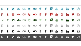 Simple and Bold Social Media Icons