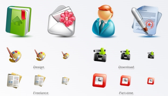 Cute Blogging Icon Set