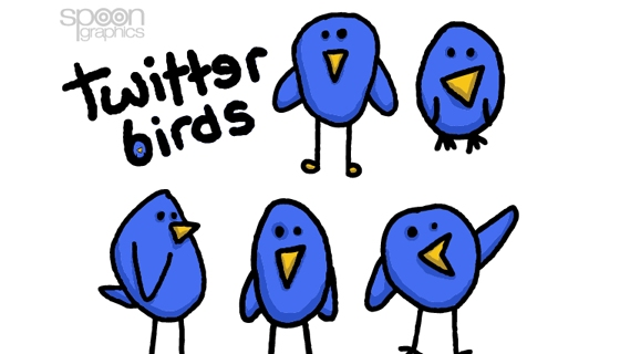 Cute and Simple Twitter Birds