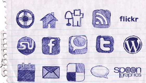 Doodle Icon Set for Bloggers
