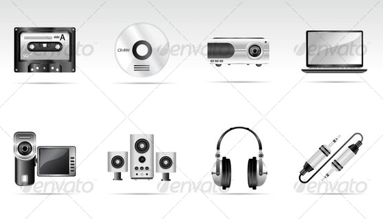 Multimedia and Electronice Icons