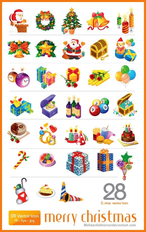 28 Christmas Vector Icon RS