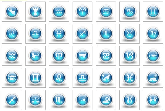 3d Glossy Blue Orbs Icons Culture | Icon Fever