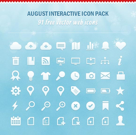 August Interactive Icon Pack