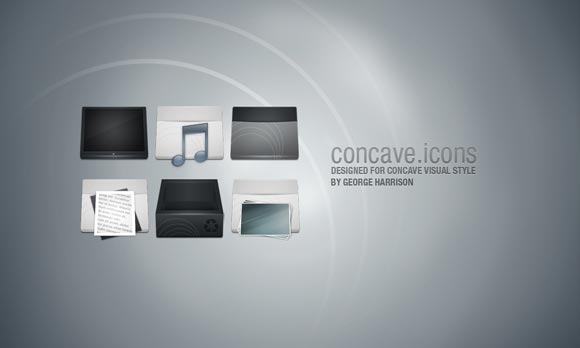 Concave Icons by Gakuseisean