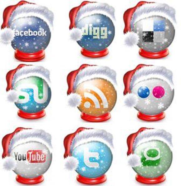 Free Holiday Social Icon Set