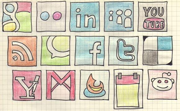 Hand Drawn Social Media by Rafiki270