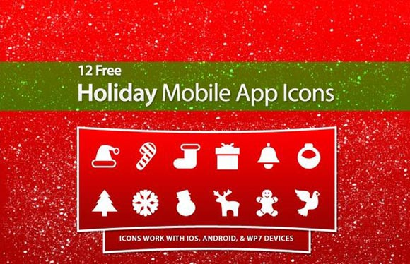 Free Holiday Mobile App Icons
