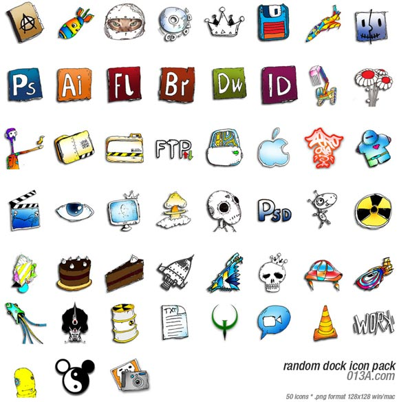 Random Dock Icon Pack by Beaucoupzero