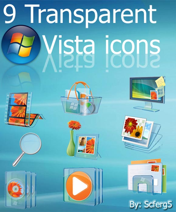 Transparent Vista icon Pack by Scferg5