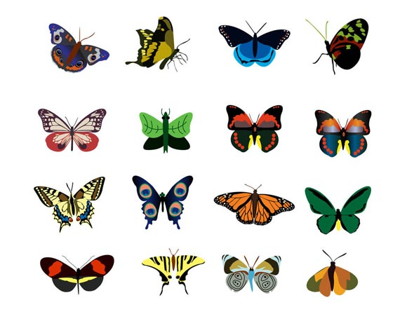 Butterfly Icon Set by Shawn10000