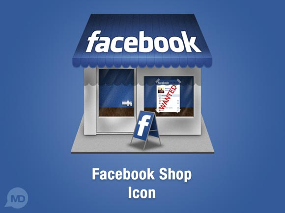 Facebook Shop Icon by Dembsky