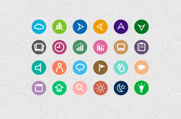 Flat Psd Icons